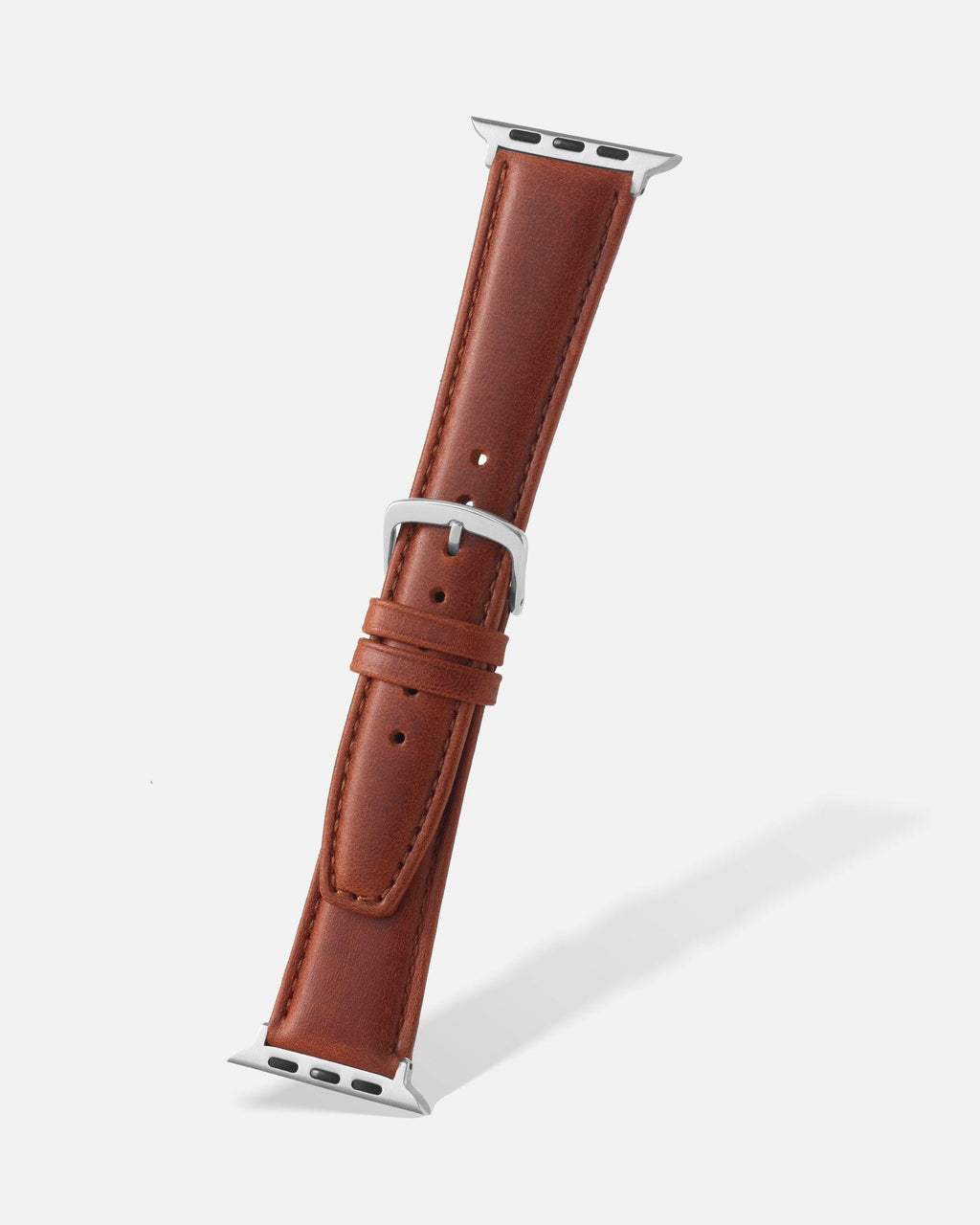 Chestnut Genuine Oil Tan Leather Apple Watch Band