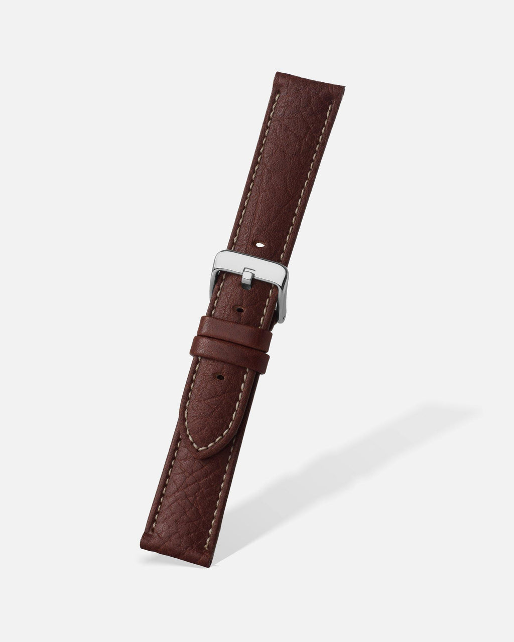 Brown Shrunken Grain Leather Watch Band