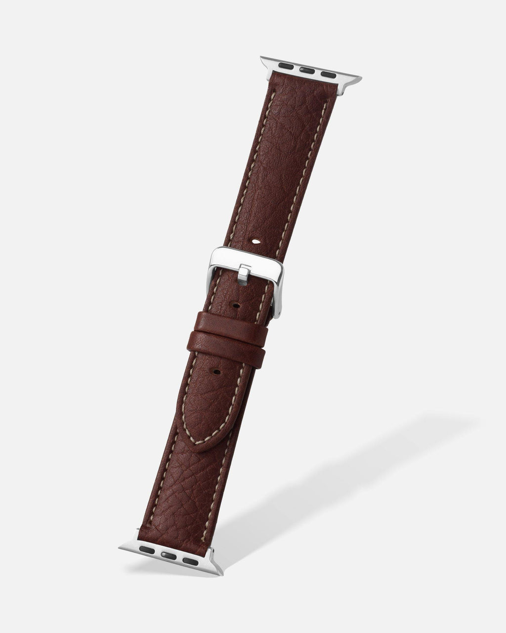 Brown Shrunken Grain Leather Apple Watch Band