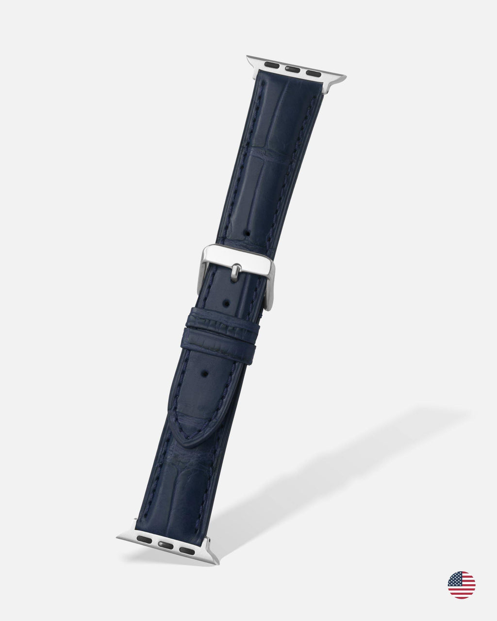 Navy Blue Genuine Alligator Apple Watch Band