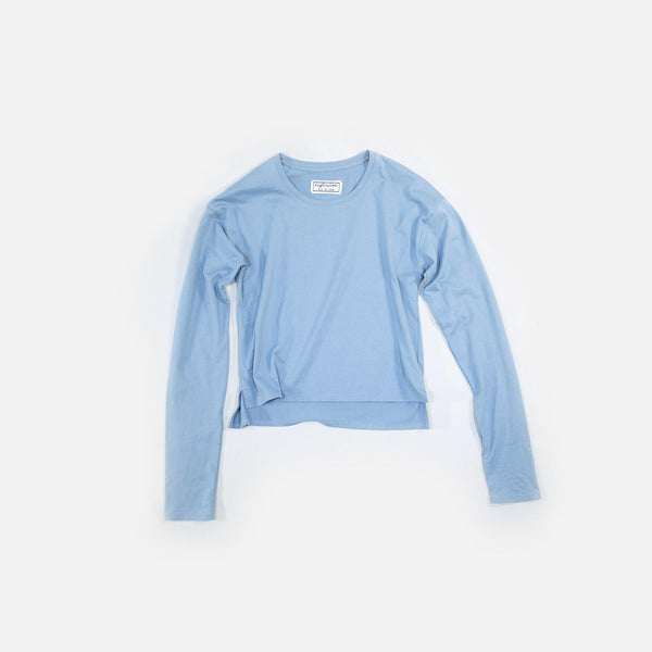クラシック天竺 T Classic Tianzhu  Long Sleeved T-Shirt - Greyish Blue