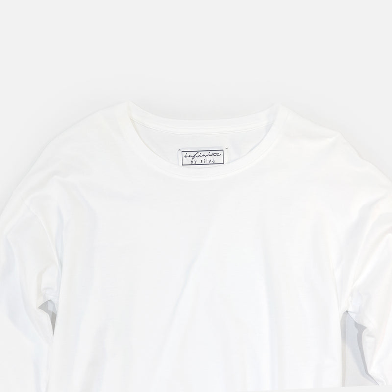 クラシック天竺長袖 T Classic Tianzhu Long Sleeved T-Shirt - White