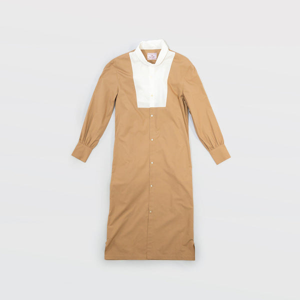 タイプライター Typewriter Wing Dress - Beige / White