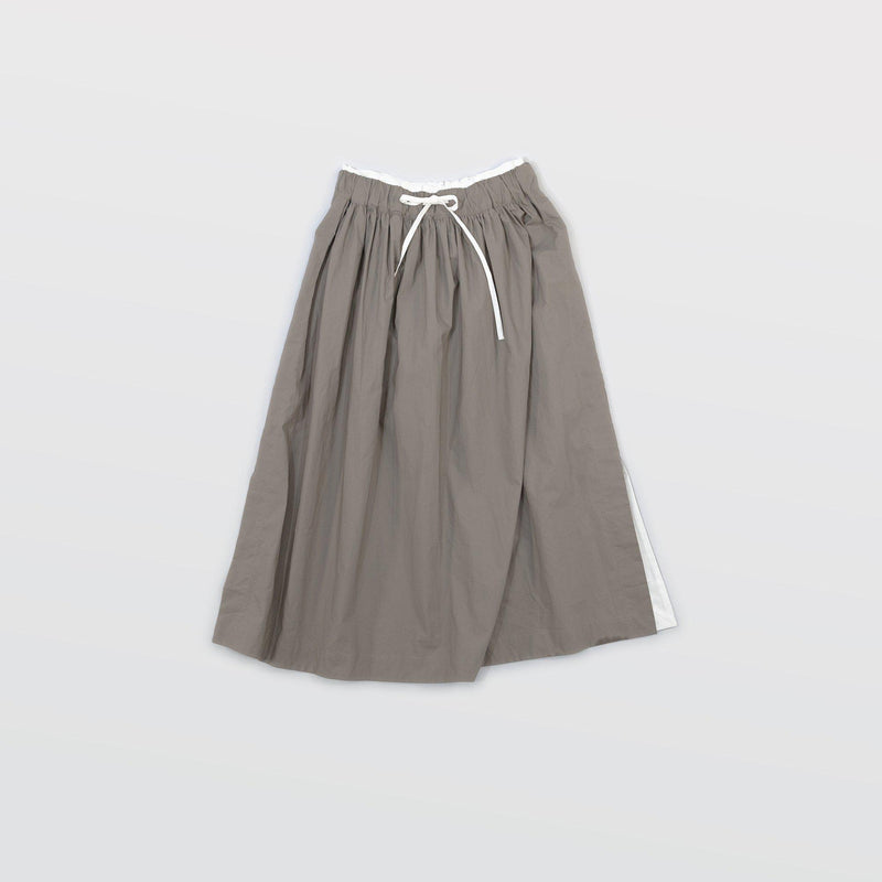 タイプライター Side Slit Skirts - Light Khaki / White