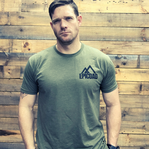 The Epic Dad Co. - Bad Ass Dad Tee I OD Green