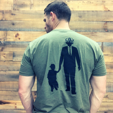 Load image into Gallery viewer, The Epic Dad Co. - Bad Ass Dad Tee I OD Green