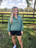 Flower Child Sage Green Hoodie