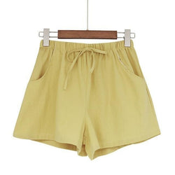 Casual Cotton Linen Shorts