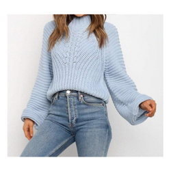 Vintage casual turtleneck pullover