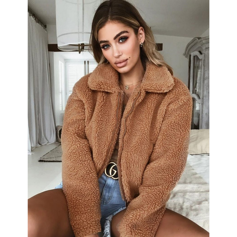Women's faux fur winter coat