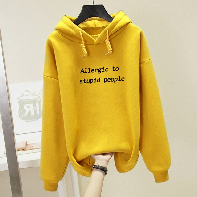 Allergic To Stupid People hoodie