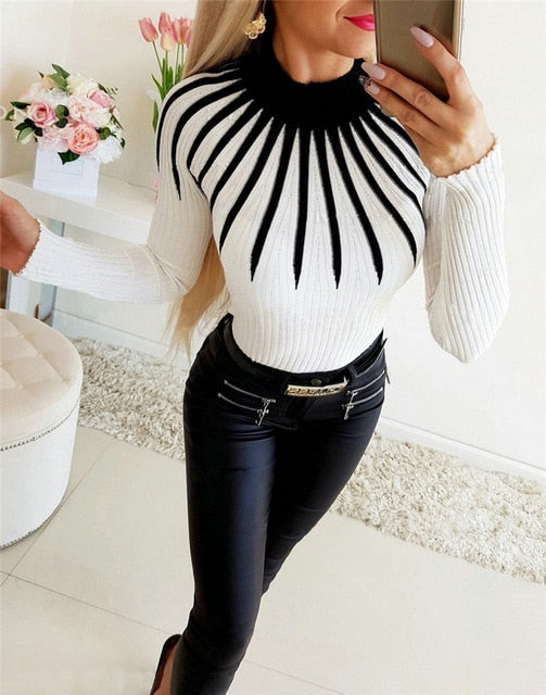 Woman sweater polo neck