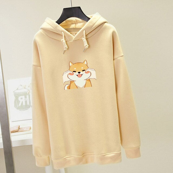 Hooded sweatshirt tender chubby dog