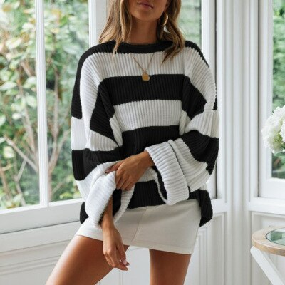 Women's striped sweater