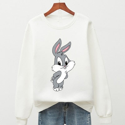 Sweatshirts Woman with cute rabbit