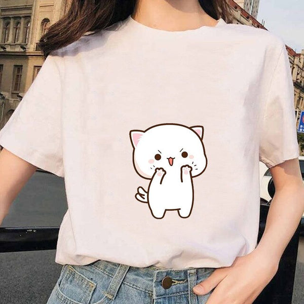Cute cat t-shirt mixer