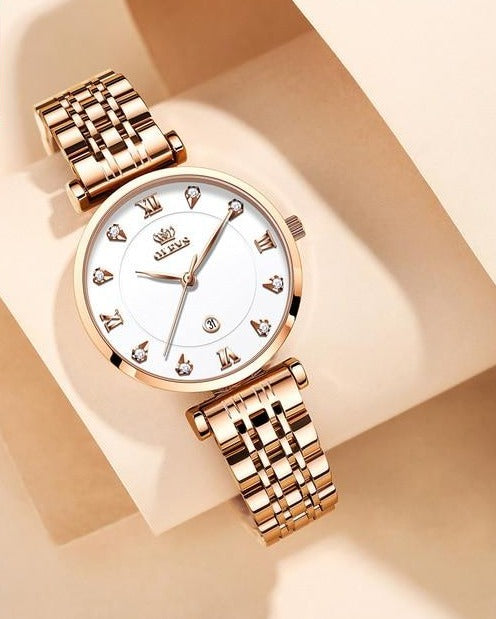 Quartz crystal women's watch