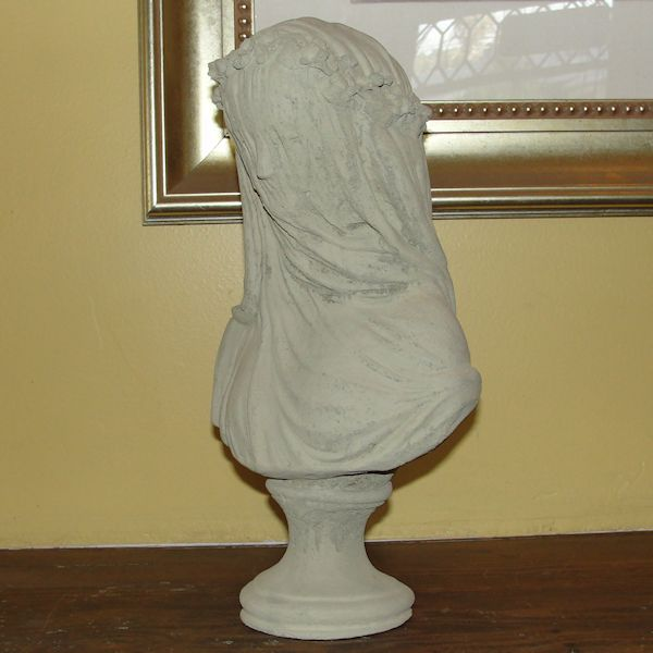 Vintage Veiled Bride Bust