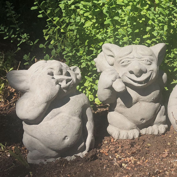 Garden Trolls Picking Nose Ear Butt Statue