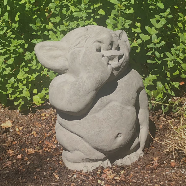 Garden Troll Picking Nose Statue