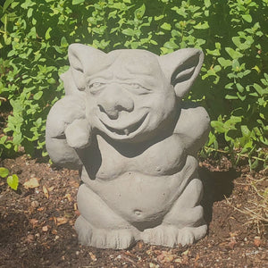 Garden Troll Picking Butt Statue