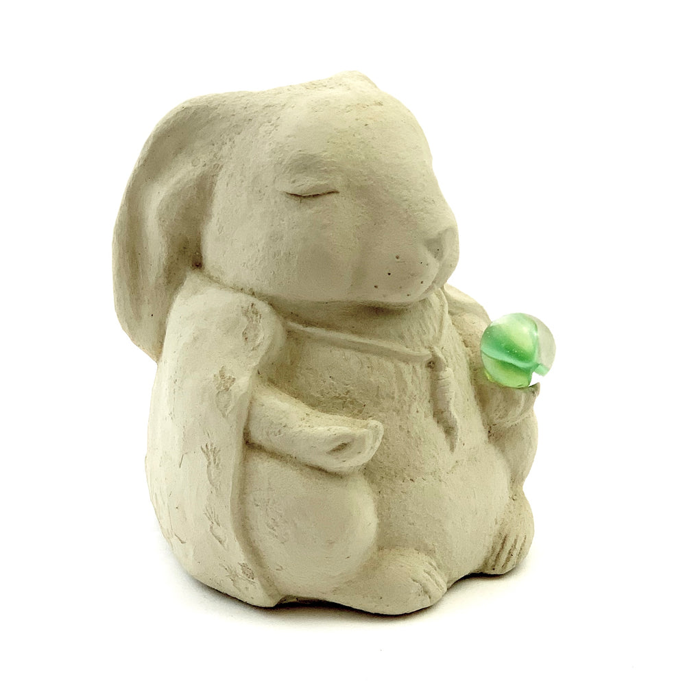 Load image into Gallery viewer, Meditating Rabbit w/ Cat's Eye