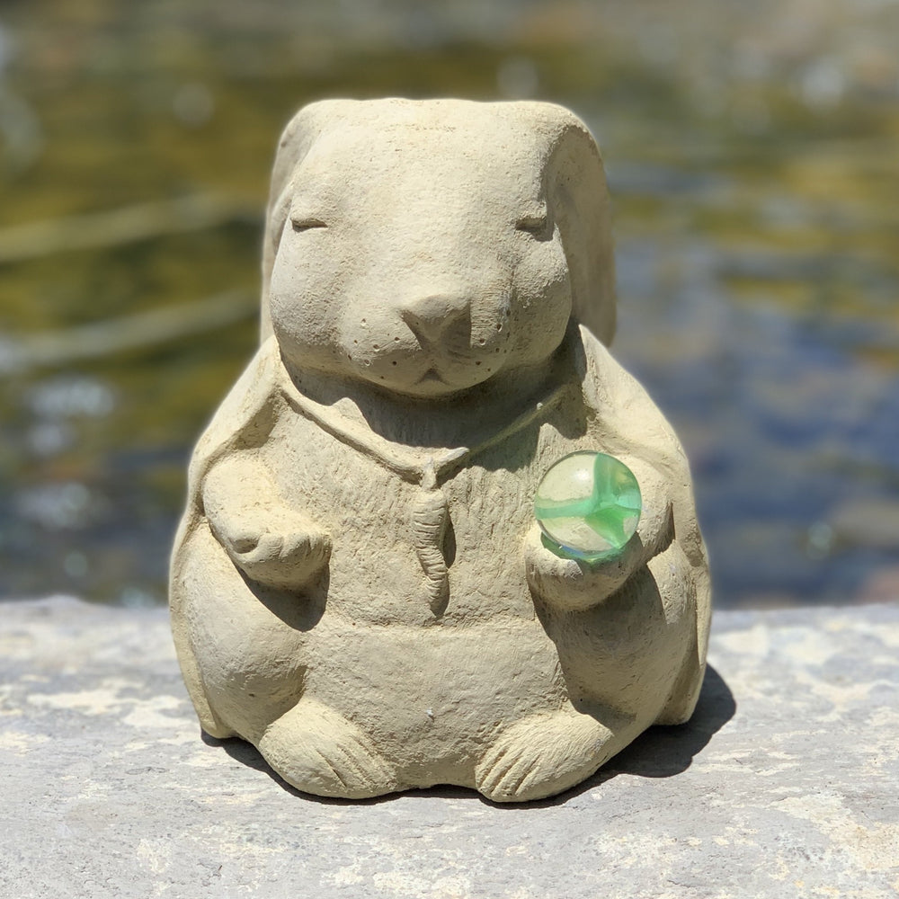 Meditating Rabbit w/ Cat's Eye