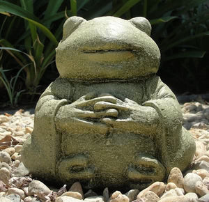 Load image into Gallery viewer, meditating buddha frog stone sculpture