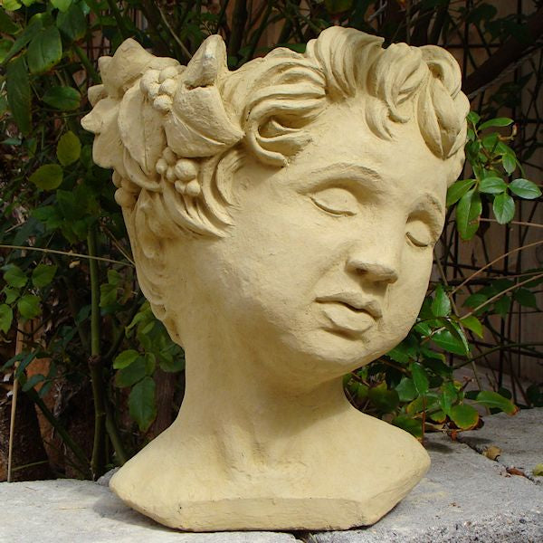Cherub Head Planter