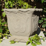 Distressed Square Urn