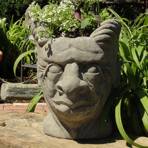 Load image into Gallery viewer, Gargoyle head Face Planter Container Gardening