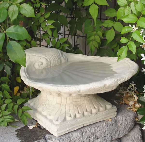 Vintage Shell Birdbath (Top Only)