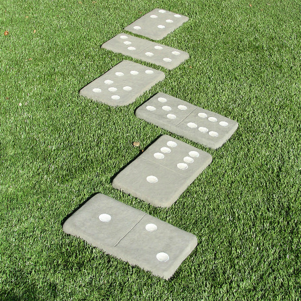 cast stone domino stepping stones