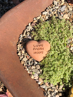 Load image into Gallery viewer, Love Faith Hope - Heart Spirit Stone