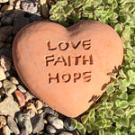 Love Faith Hope - Heart Spirit Stone