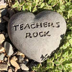 Teachers Rock - Heart Spirit Stone