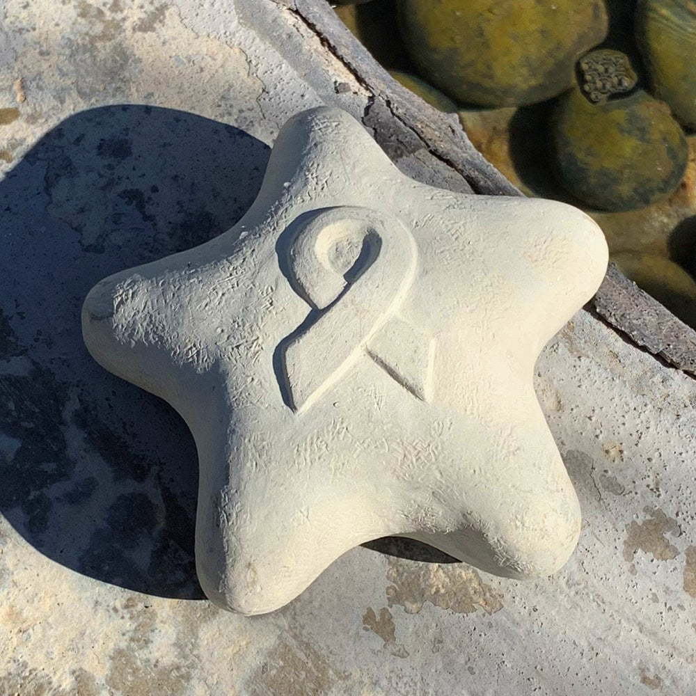 Fight Cancer Ribbon - Shooting Star Spirit Stone