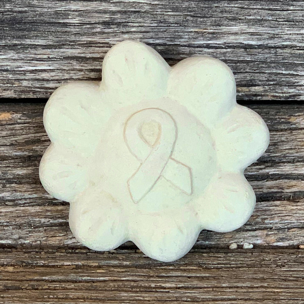 Fight Cancer Ribbon - Passion Flowers Spirit Stones