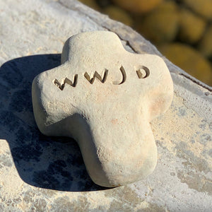 WWJD - Cross Spirit Stone