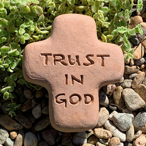Trust in God - Cross Spirit Stone