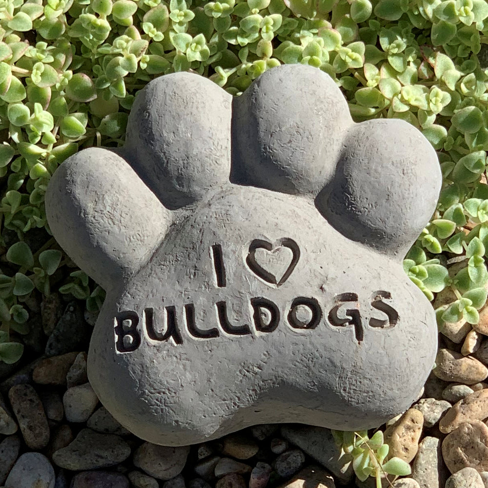 I Heart Bulldogs - Paws Spirit Stones