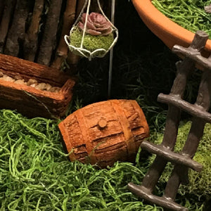 Fantasy Garden Wooden Barrel