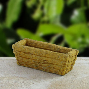 Load image into Gallery viewer, miniature fairy garden wooden trough