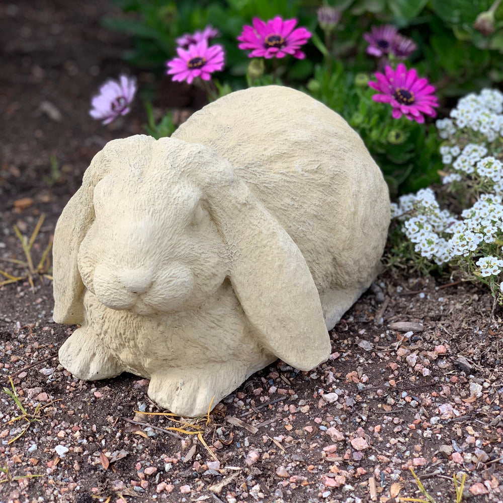 Vintage Laying Lop-Ear Rabbit