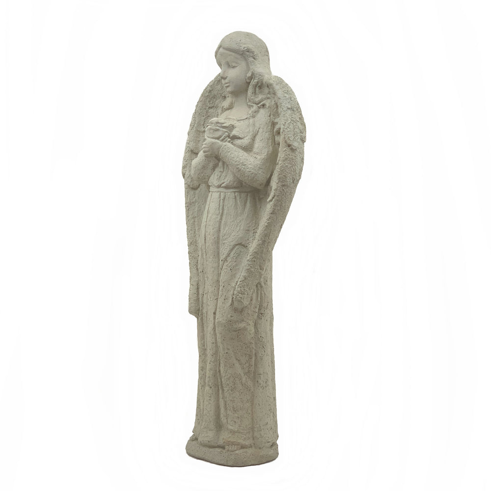 Load image into Gallery viewer, Vintage Angel Holding Rose