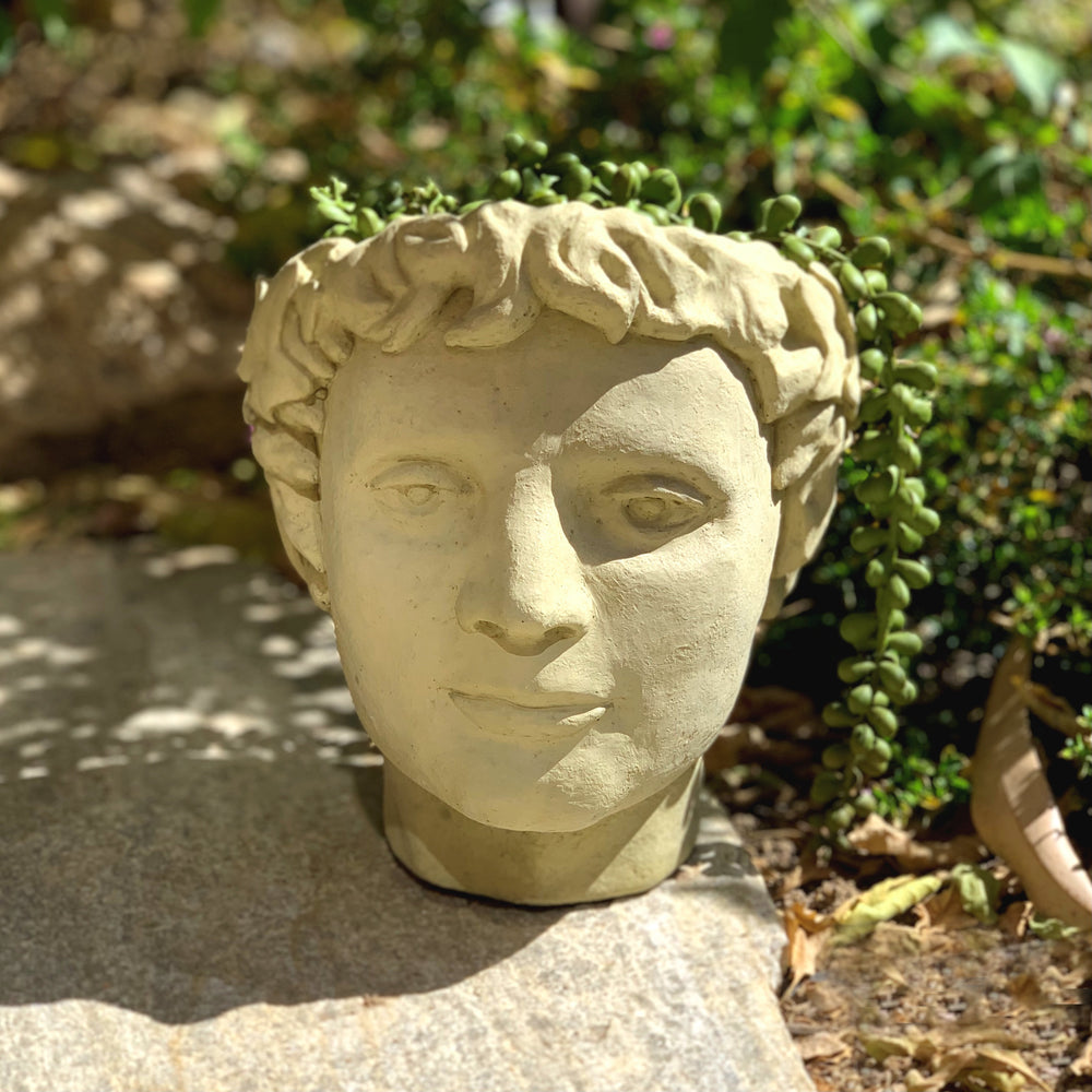 Roman Head Planter (Small)