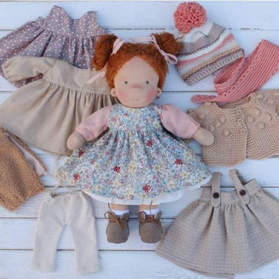 Waldorf Girl Doll - Big Set of Clothes