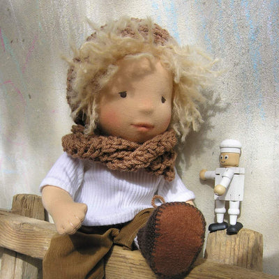 "Waldorf Boy Doll - ""Sun Kisses"" Skin"