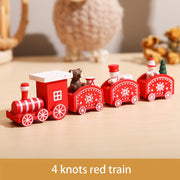 Wooden Christmas Train Ornament Christmas Decoration For Home Santa Claus Gift Toys Crafts Table Deco Navidad Xmas 2021 New Year