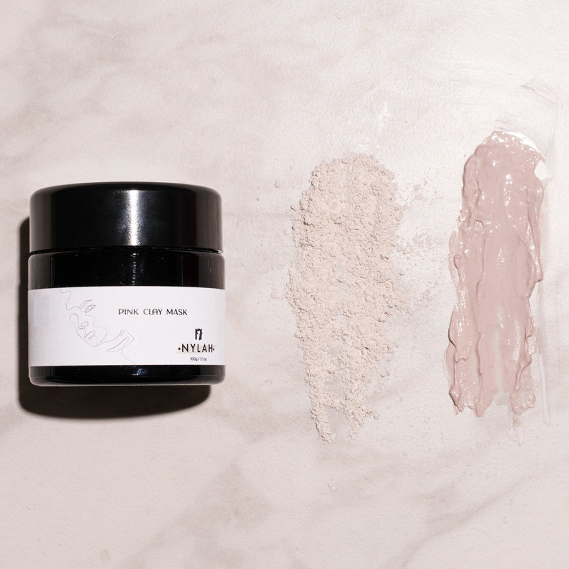 Pink Clay Mask vegan skin care